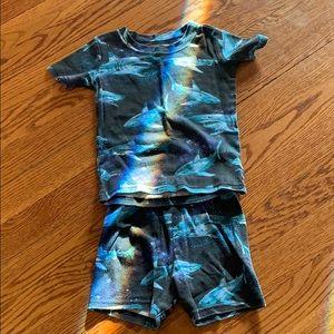 Shark pajamas size 4